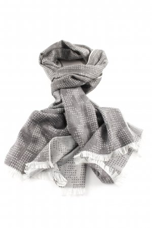 Michael Kors Fringed Scarf light grey-white casual look