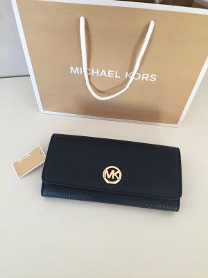 Michael Kors Cartera color oro-azul oscuro