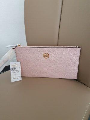Michael Kors Fulton Tasche Clutch Fulton LG Zip Clutch Blossom rosa gold NEU