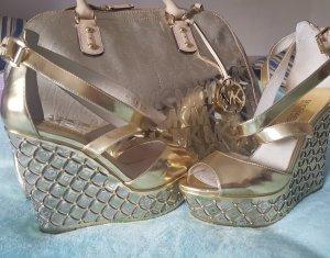 Michael Kors Gabriella Wedge Gold