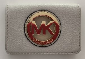 Michael Kors Wallet light grey-gold-colored leather