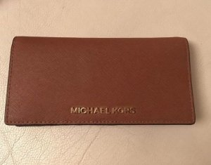 Michael Kors Geldbeutel, braun, Jetset Travel, Leder, Original
