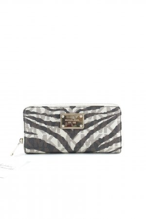 Michael Kors Wallet dark brown-cream animal pattern elegant