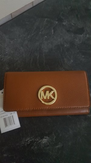Michael Kors Wallet cognac-coloured-gold-colored leather