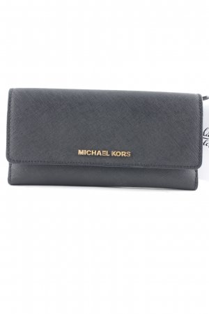 "Michael Kors Portemonnee ""Jet Set Travel Flat Trifold Wallet Black"" zwart"