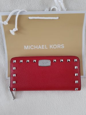 Michael Kors Wallet red-silver-colored leather