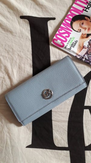 Michael Kors Cartera color plata-azul celeste