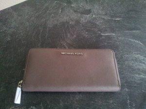 Michael Kors Portefeuille gris brun-argenté cuir