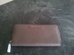 Michael Kors Wallet grey brown-silver-colored leather