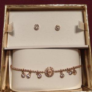 Michael Kors Geschenk Set rosėgold Armband Ohrringe neu