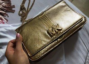 Michael Kors Gold Large Clutch