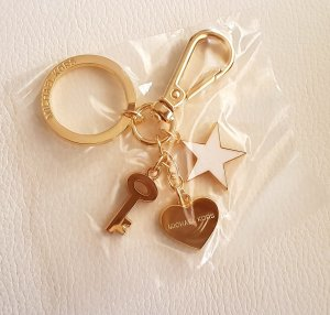 Michael Kors Key Chain white-gold-colored