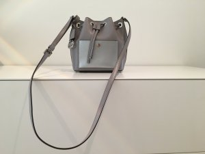 Michael Kors Pouch Bag silver-colored-grey leather
