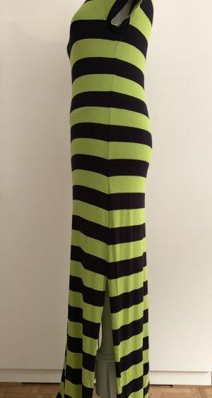 MICHAEL KORS grün/blau gestreiftes Kleid mit seitlichen Schlitzen