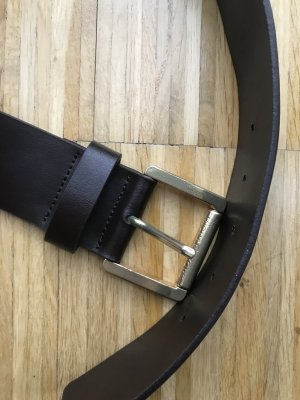 Michael Kors Leather Belt dark brown-gold-colored