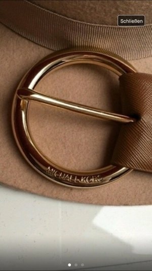 Michael Kors Cinturón de cadera marrón-color oro