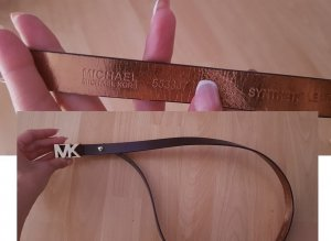Michael Kors Faux Leather Belt black brown imitation leather