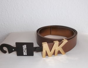Michael Stars Faux Leather Belt brown-sand brown