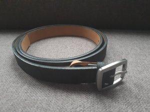 Michael Kors Cinturón de cuero de imitación negro-gris oscuro