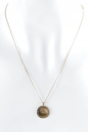 "Michael Kors Collier ""Heritage Logo Disc Necklace Rosé Gold"" or rose"