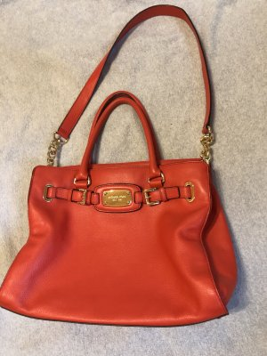 Michael Kors Carry Bag red-gold-colored leather