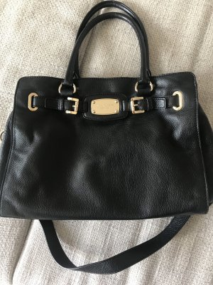 Michael Kors Bolso barrel negro-color oro