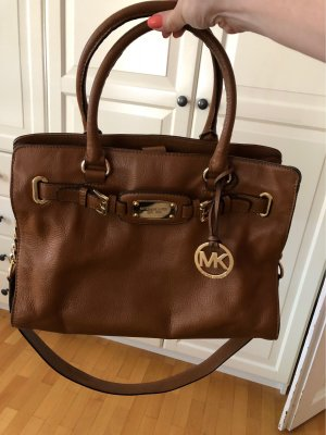 Michael Kors Shoulder Bag cognac-coloured leather