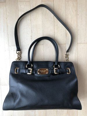 Michael Kors Hamilton Handtasche schwarz gold