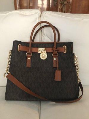 Michael Kors Hamilton Large MK Logo Tote Bag, Brown