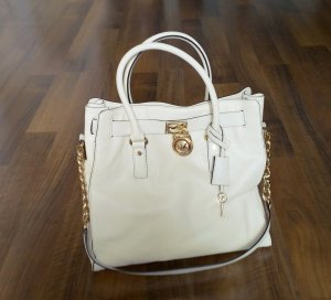 "Michael Kors ""Hamilton"" LG NS Tote in Vanilla/Off-White"