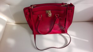 Michael Kors Hamilton LG  Traveler Dark Red