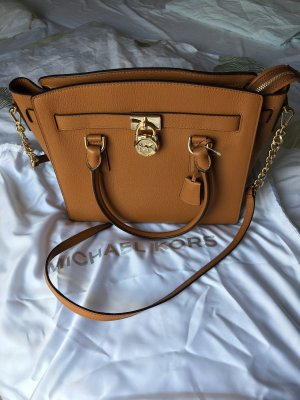 Michael Kors Crossbody bag brown-gold-colored leather