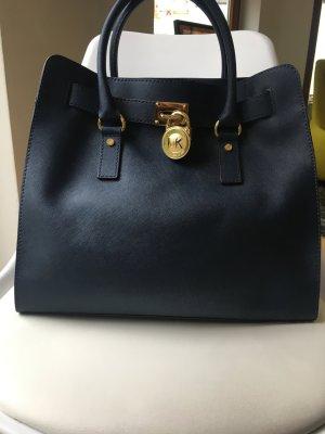 Michael Kors Hamilton Tasche Navy blau mit Staubbeutel