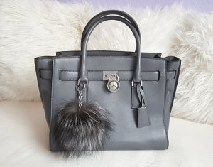 Michael Kors Hamilton Traveler LG Heather Grey + Pom Pom Silver ♥