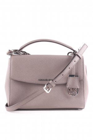"Michael Kors Handtasche ""Ava SM TH Satchel Leather Cinder"" graubraun"