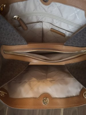 Michael Kors Pouch Bag camel-bronze-colored leather
