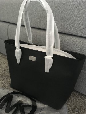 Michael kors Handtasche clutch neu schwarz Silber Tasche Leder Leather