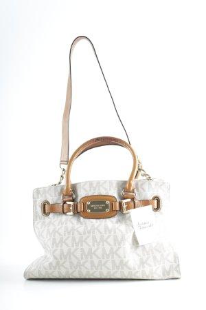 Michael Kors Handbag cream-brown monogram pattern casual look