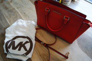 Michael Kors Shoulder Bag red leather