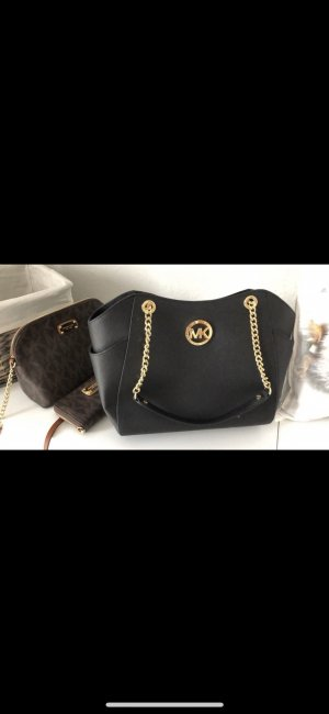 Michael Kors Bolso negro-color oro