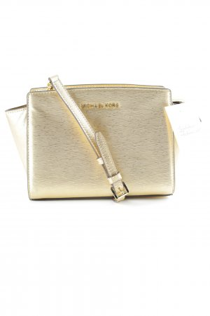 Michael Kors Handtasche goldfarben Metallic-Optik