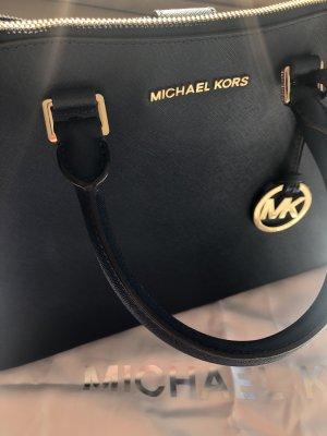 MICHAEL KORS Handtasche Jet Set Travel LG Tote Leder dark blue Shopper