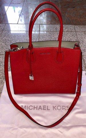 Michael Kors Handtasche, rot, Leder
