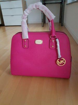 Michael Kors Handtasche Sandrine LG Satchel raspberry pink gold NEU