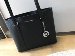 Michael Kors Handtasche schwarz Silber