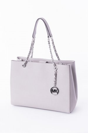 Michael Kors Carry Bag light grey-silver-colored leather