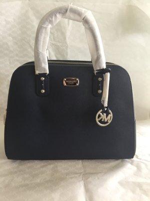 Michael Kors Handtasche Tasche NEU Sandrine Navy LG Satchel