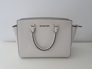 Michael Kors Handbag white-gold-colored leather