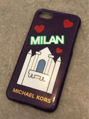 Michael Kors Étui pour téléphone portable rouge mûre