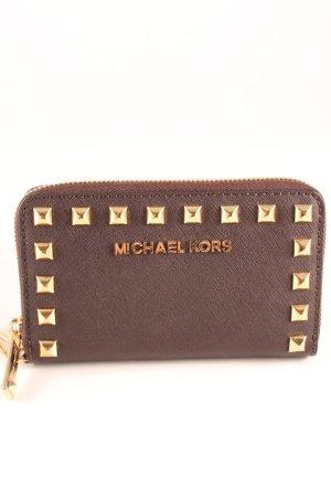 Michael Kors Custodia per cellulare oro-marrone scuro stile da moda di strada